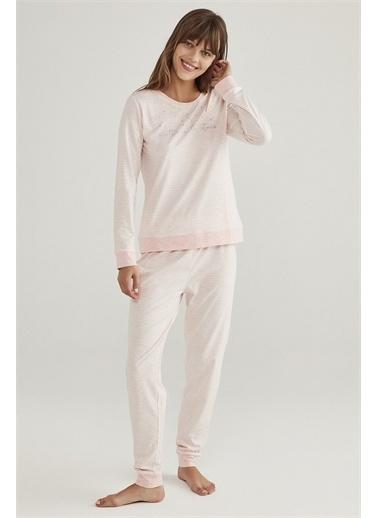 Penti Kadın Renkli Stripy  Pijama Takım PN1HA43Q20SK Renkli